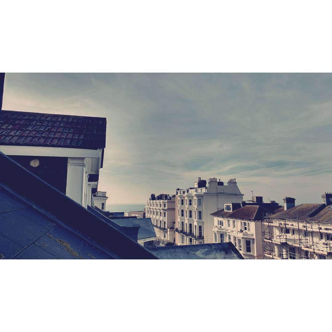 Rooftop Views #roofterrace #hove #sea🌊