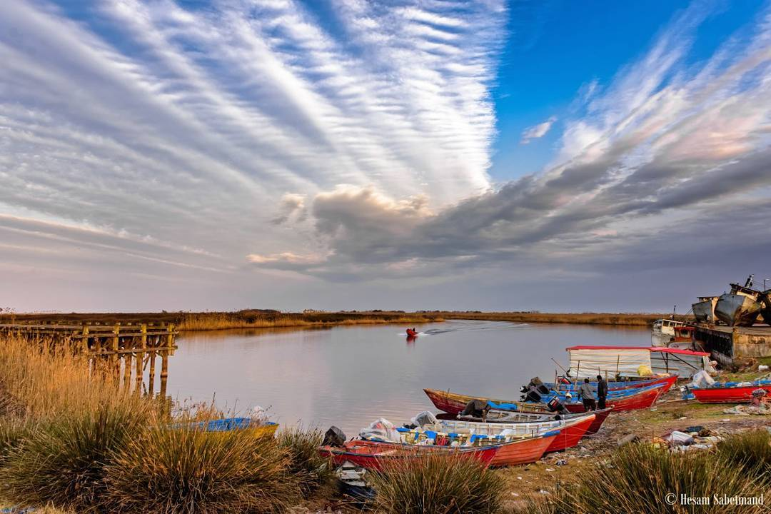Great view ! #landscape #nikon #iran #guilan #sky #sea #boat #landscapephotography