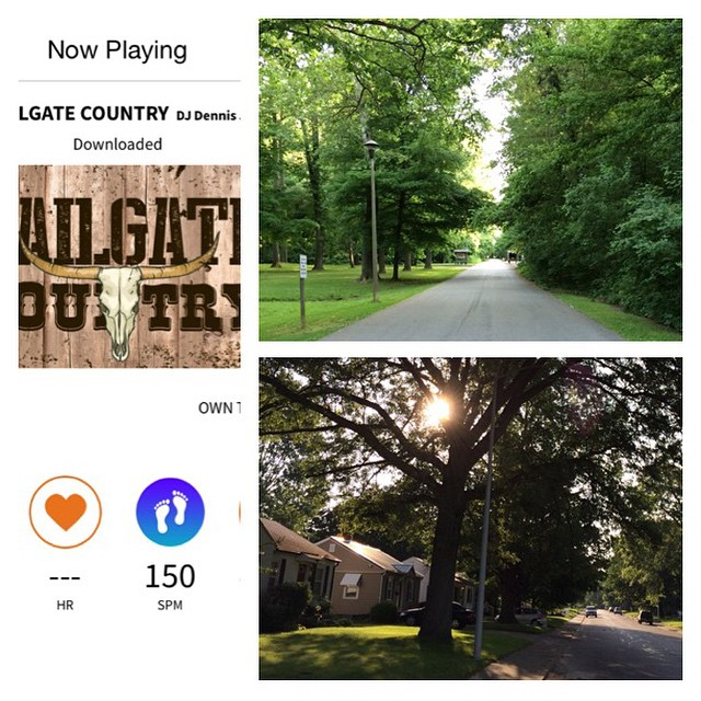 Day 6/100: Beautiful morning today. Nice and cool, sun coming through the trees. Country mix on Rock My Run (syncs to your steps). Ready for an awesome weekend. #workitout100 #fitness #run #rockmyrun #countryjams