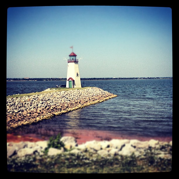 Lighthouse on Lake Hefner