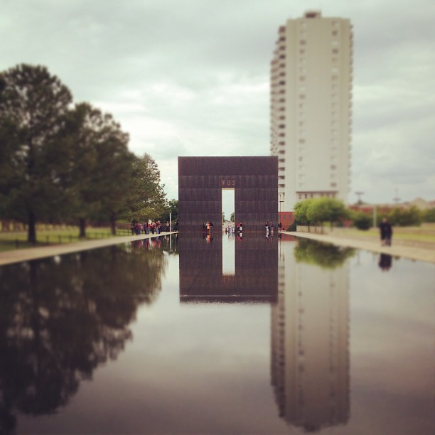 Gates of time. OKC bombing memorial