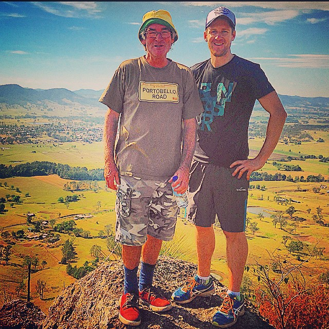 Good times mountain climbing in Gloucester NSW with the old man 'Frank the Tank'