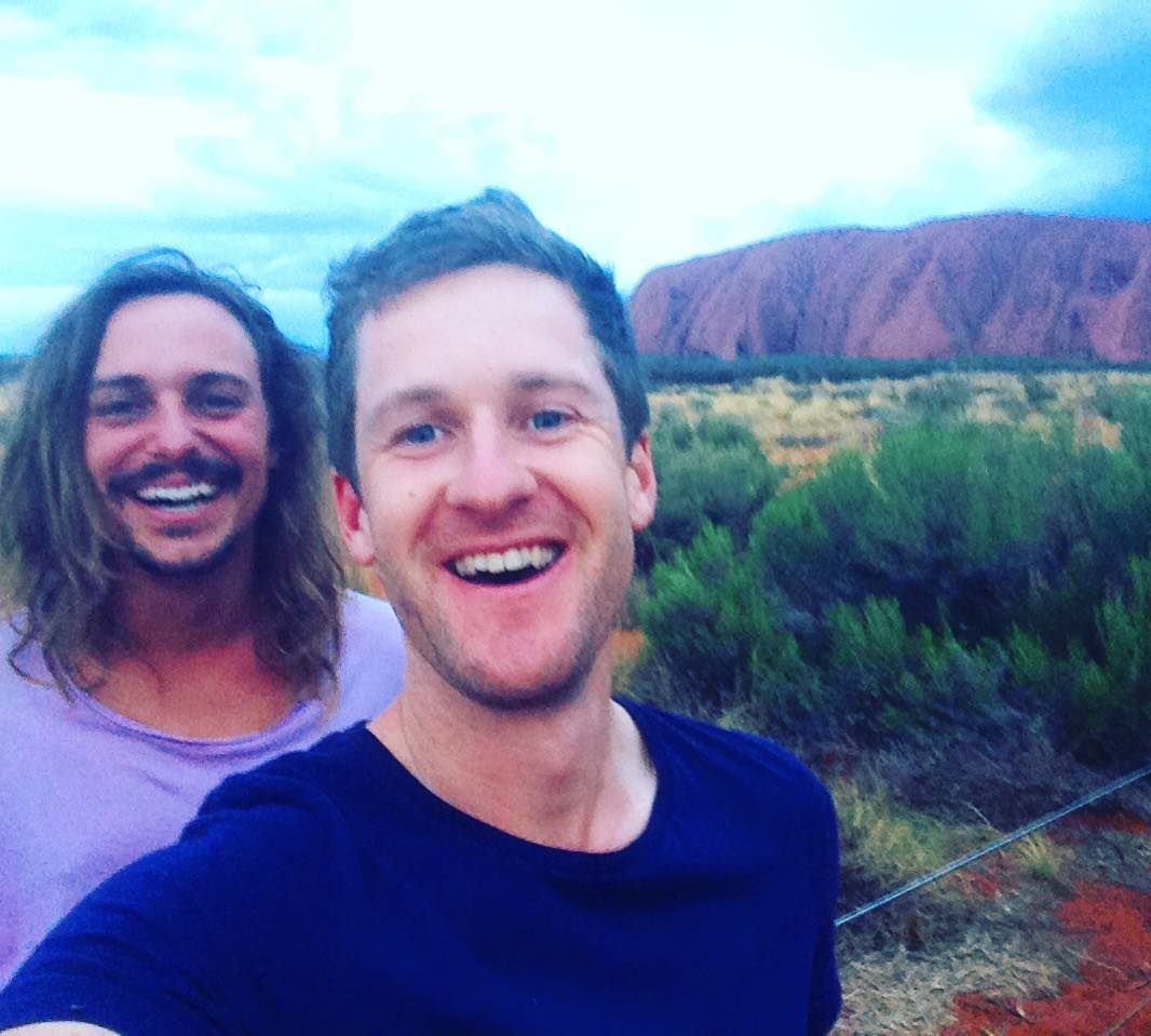 Holidays kicking off with Uluru sunset with the wease... @theefynoteefy #uluru