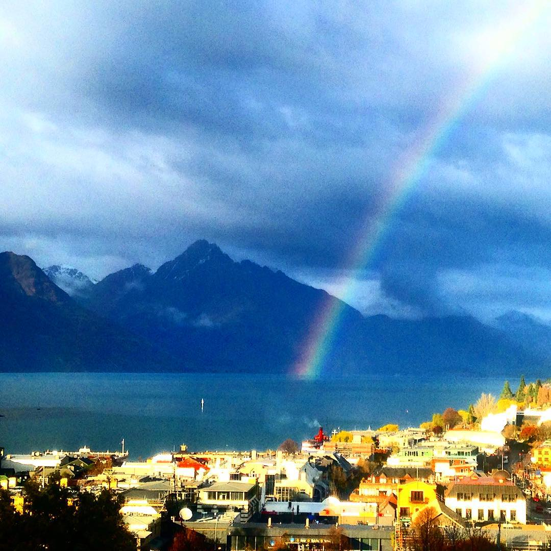I think I have found the location for the pot of gold... #notadoublerainbow #queenstown #nz