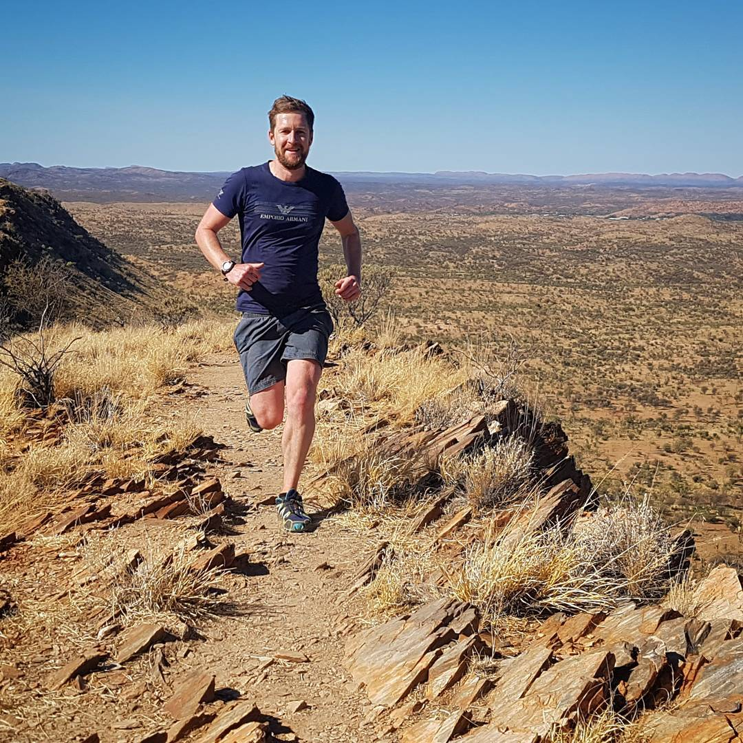 Stage 1 of the Larapinta Trail finished in just over 3 hours today with @mattnunan #larapintatrail #alicesprings