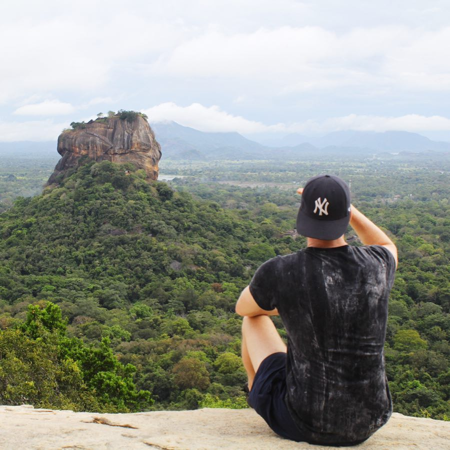 Sigiriyia rock view from the top of Pidurangala Rock 🇱🇰🌿⛰ #Pidurangala #views #sigiriya #rocks #srilanka #srilankatravel