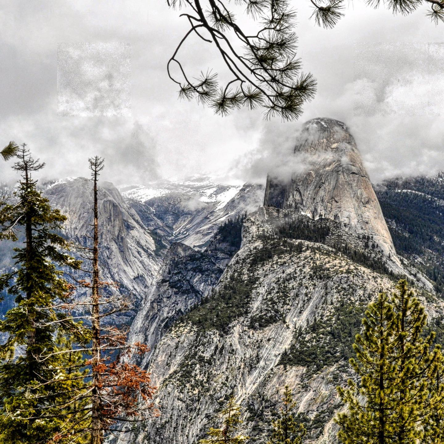 Washburn Point, Yosemite NP, California  Cloudy Half Dome from Washburn Point. Washburn Point is located 3/4 of a miles from the end of Glacier Point Road. The views are similar to Glacier Point. #usa #usa🇺🇸 #usatravel #usatrip #roadtripamerica #roadtripcalifornia #california #californialove #yosemitenationalpark #yosemite #yosemitenps #halfdome #washburnpoint #nature #naturelovers #nature_perfection #naturephotography #travelphotography #reisefotografie #reiselust #travelbug #nationalparksusa #californiagram #naturepic #traveladdict #travelawesome #travelblog #travelblogger #reiseblogger #reiseblog